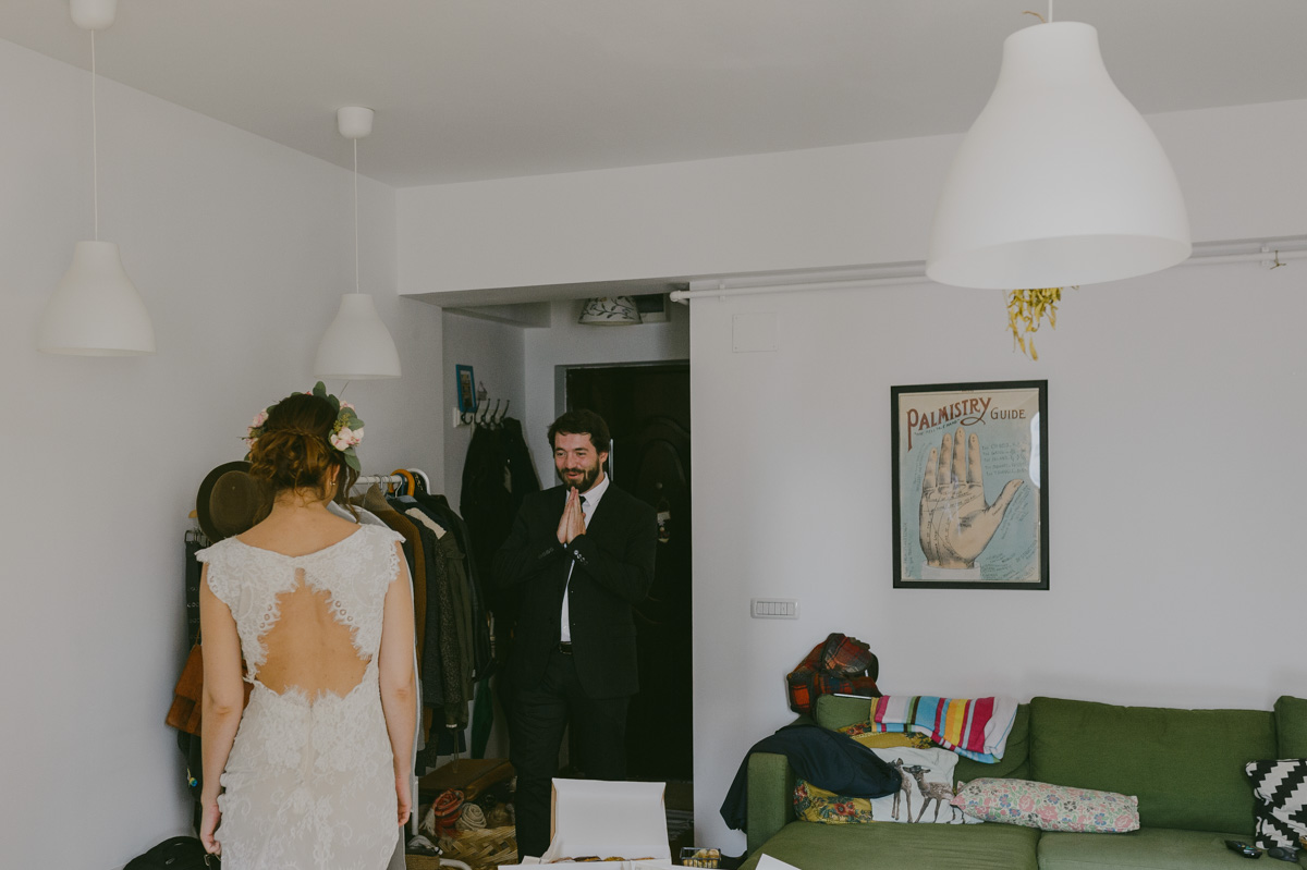 Bucharest Wedding Photographer first look