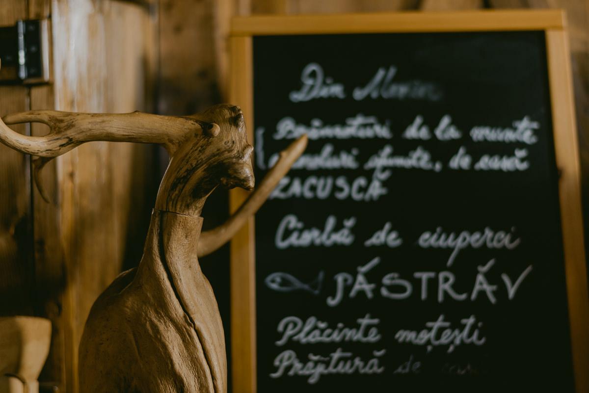 Rustic Deer Sculpture Transylvania