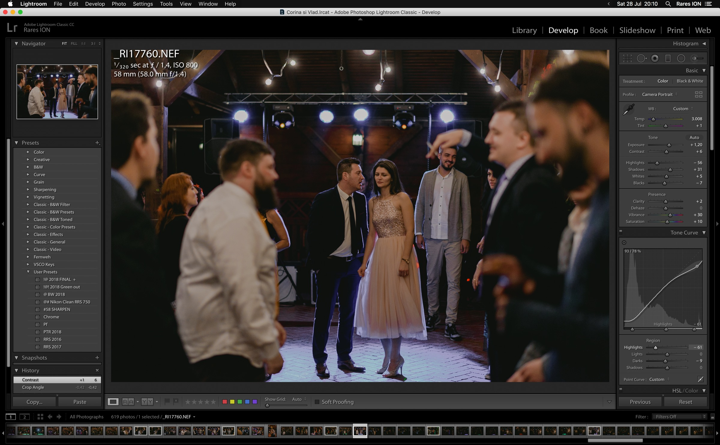 Lightroom for wedding photographer